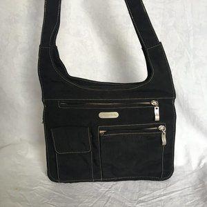 Baggallini Slim multi pocket shoulder bag black